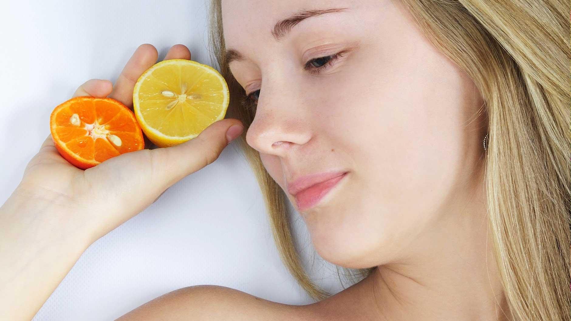Malerisch Haarkur Selber Machen Foto Von Orangen-zitronen-buttermilch-haarkur