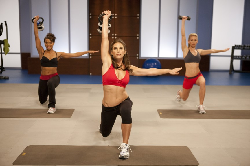 Jillian Michaels beim Training