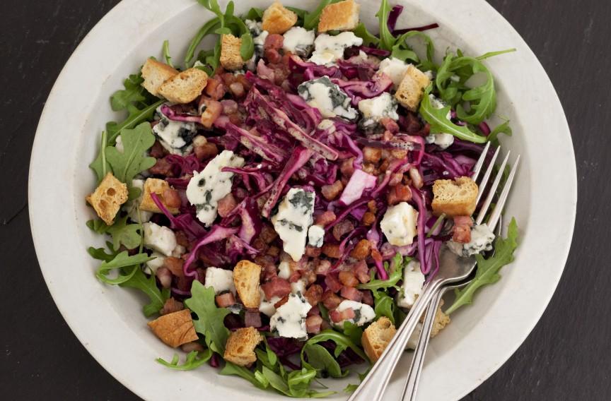 Rotkohlsalat schmeckt lecker!