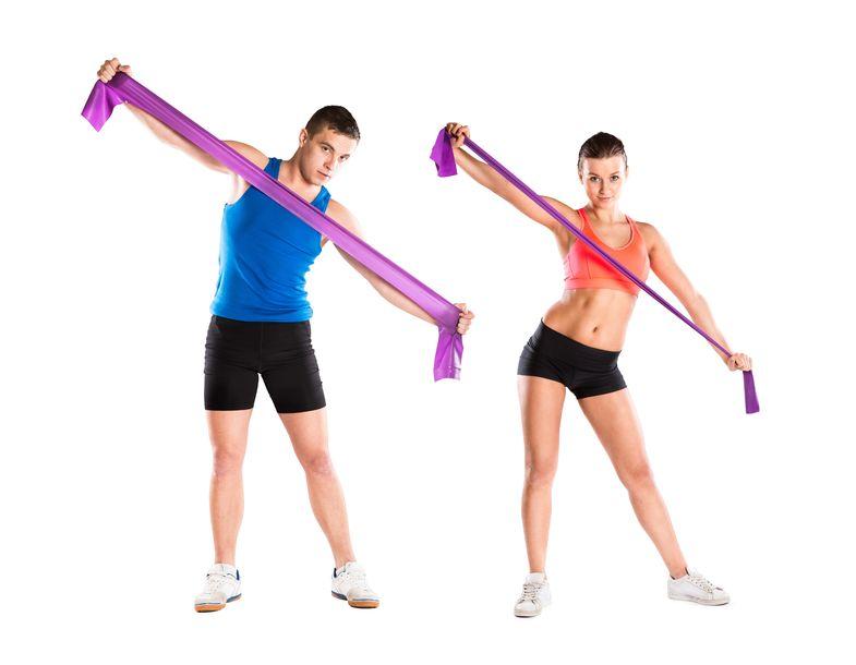 Trainieren mit Fitnessbändern hält fit!