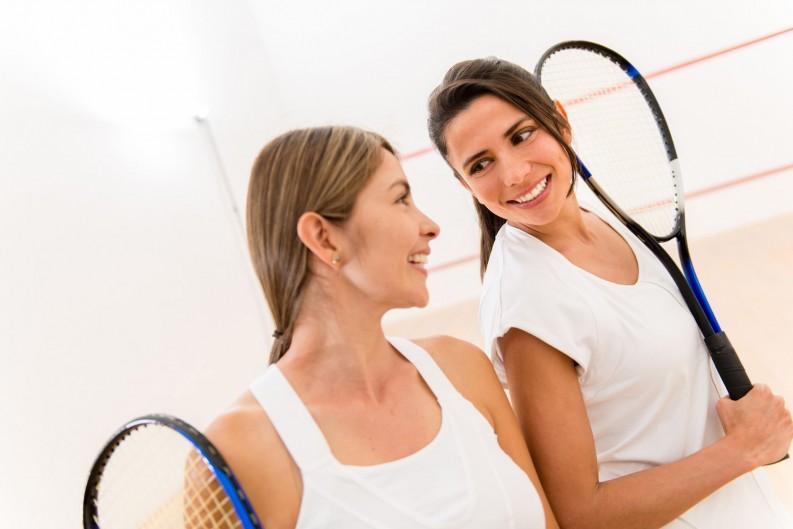 Squash für zwei - ein toller Sport